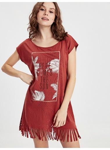 LC Waikiki Plaj Elbisesi Kırmızı